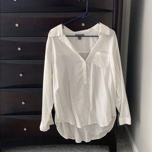 Large Pea in the Pod white blouse